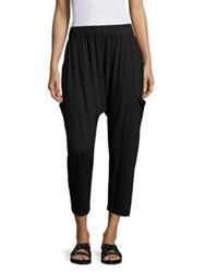 Eileen Fisher Slouchy Cropped Jersey Pants Black