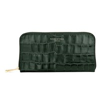 Aspinal Of London Continential Clutch Wallet Forest Green