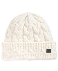 Sean John Men's Chunky Cable Knit Beanie Cream
