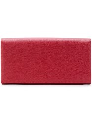Longchamp Flap Continental Wallet Red