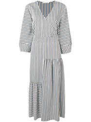 Chinti And Parker Belted Striped Dress Neutrals