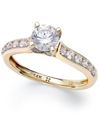 Macy's Diamond Engagement Ring In 14K White Gold Or 14K Gold 1 Ct. T.W. Yellow Gold