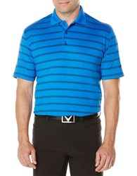 Callaway Performance Striped Polo Magnetic Blue