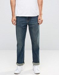 Asos Relaxed Jeans In Dirty Blue Wash Dirty Blue