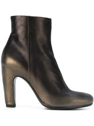Officine Creative Heeled Ankle Boots Leather Polyester Rubber Metallic