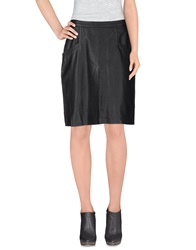 Cameo Knee Length Skirts Black