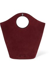 Elizabeth And James Market Small Leather Suede Tote Burgundy