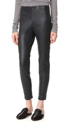 Cupcakes And Cashmere Liliana Stretch Vegan Leather Leggings Black