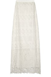 Miguelina Asher Lace Maxi Skirt White