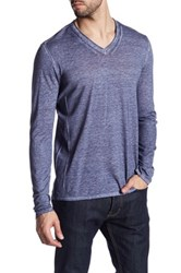 John Varvatos Long Sleeve V Neck Pullover Purple