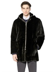 Larusmiani Hooded Mink Fur Coat