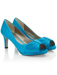Jacques Vert Pleated Detail Shoe Turquoise