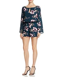 Cupcakes And Cashmere Hansens Floral Romper Teal
