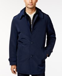 Kenneth Cole New York Raven Slim Fit Raincoat Navy