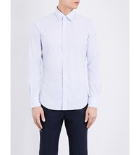 Slowear Kurt Cotton Shirt Wht Blue