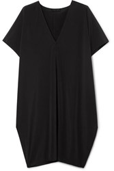 Hatch The Slouch Crepe De Chine Mini Dress Black