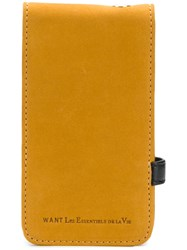 Want Les Essentiels De La Vie Phone Case Yellow And Orange