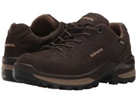 Lowa Renegade Gtx Lo Dark Brown Beige Women's Shoes