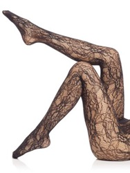 Wolford Floral Lace Net Tights Black