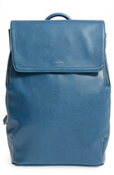 Matt And Nat 'Fabi' Faux Leather Laptop Backpack Blue Moonstone