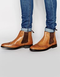 Red Tape Brogue Chelsea Boots Tan