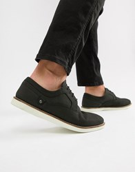 Red Tape Holker Casual Lace Up Shoes In Black