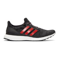 Adidas Originals Black And Red Ren Zhe Edition Ultraboost Sneakers