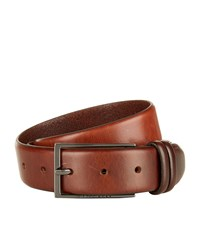 Boss Brushed Leather Belt Unisex Brown