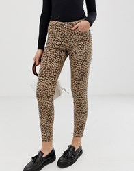 B.Young Leopard Print Jeans Multi