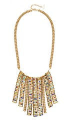 Serefina Ladder Bib Necklace Gold Multi
