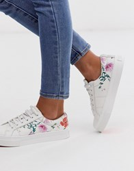 Ted Baker Ephielp Printed Leather Trainers White