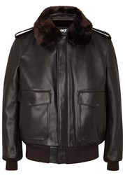 Schott Nyc A 2 Brown Leather Bomber Jacket
