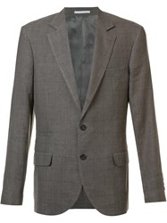 Brunello Cucinelli Two Buttons Notched Lapel Blazer Brown