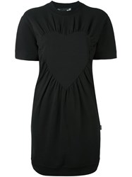 Love Moschino Wrapped Heart T Shirt Dress Black