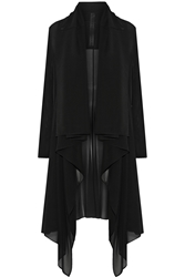 Gareth Pugh Draped Stretch Silk Chiffon Coat