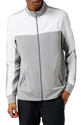 Topman Men's Colorblock Zip Track Jacket