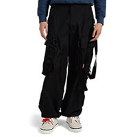 Off White C O Virgil Abloh Strap Detailed Rave Pants Black