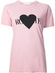 Rodarte Logo Print T Shirt Pink And Purple