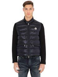 Moncler Gui Quilted Nylon Down Vest Navy