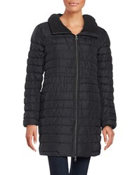 Bench Succinct Zip Front Puffer Coat Jet Black