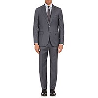 Isaia Men's Striped Gregory Suit Grey