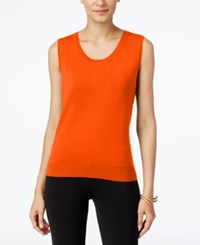 August Silk Scoop Neck Shell Pumpkin