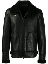Salvatore Santoro Short Length Leather Jacket Black