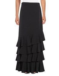 Alex Evenings Ruffled Maxi Skirt Black