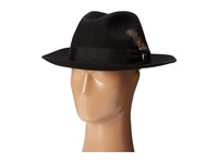 Stacy Adams Wool Felt Fedora W Grosgrain Band Black Fedora Hats
