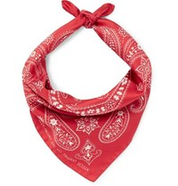 Moncler Genius 7 Fragment Printed Silk Twill Bandana Red