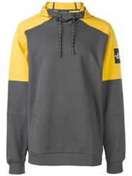 The North Face Contrast Panel Hoodie Grey