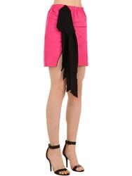 N 21 Techno Duchesse Mini Skirt W Bow Fuchsia