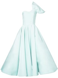 Christian Siriano One Shoulder Ball Gown Green
