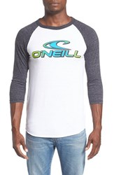 O'neill Men's 'Dimension' Logo Graphic Baseball T Shirt
